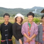 Z domačini, okolica Luang Prabanga, Laos